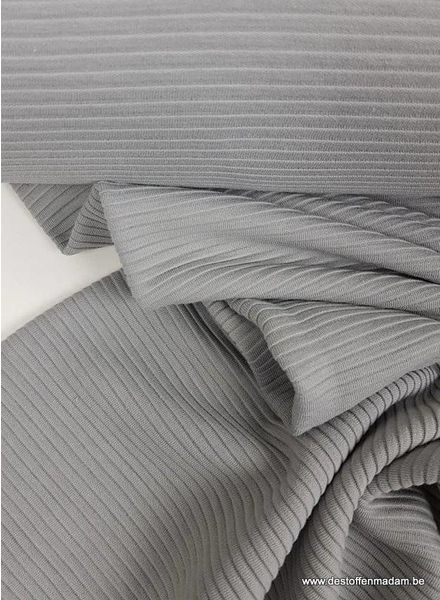 grey - textured knit fabric