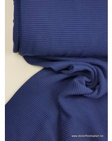 navy - textured knit fabric