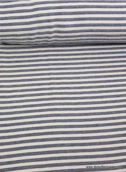 blue striped textured jersey fabric