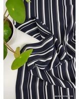 classy vertical stripes marine - viscose