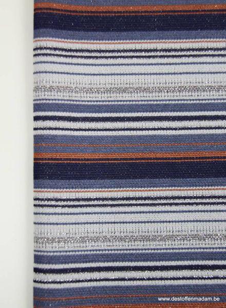 glitter streepjes - gebreide tricot