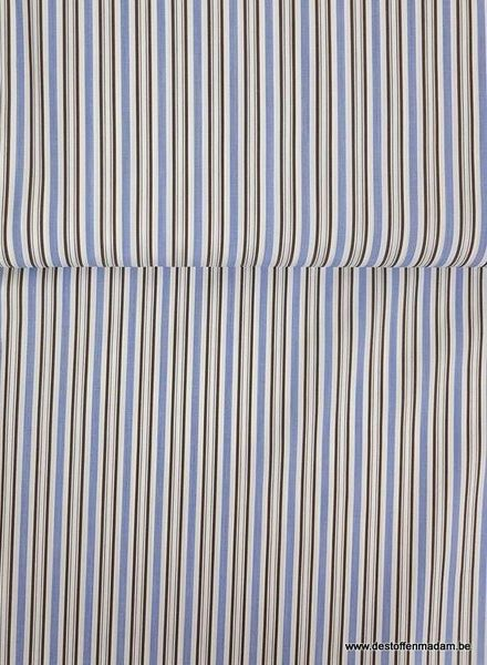 blue/taupe striped cotton