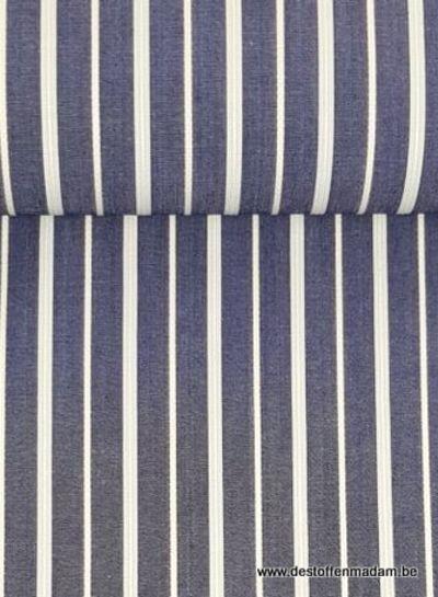 denim dubbele gestreept - hemden katoen