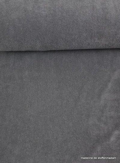 grey stretch sponge or terry