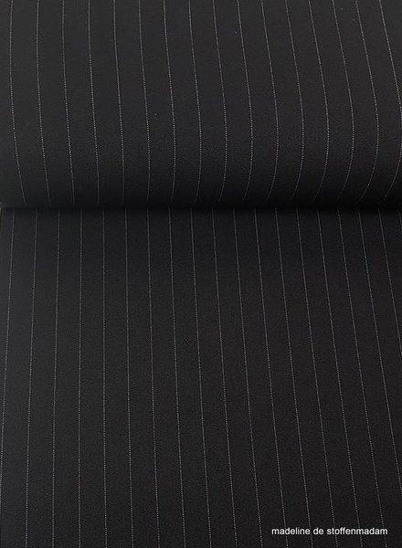black wide stripes - stretch tencel