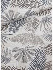 Emilia's leaves grey - deco fabric