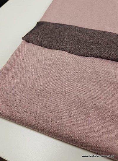roze double face - Italiaanse viscose tricot