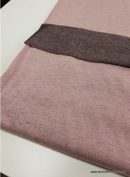 roze double face - Italiaanse viscose tricot