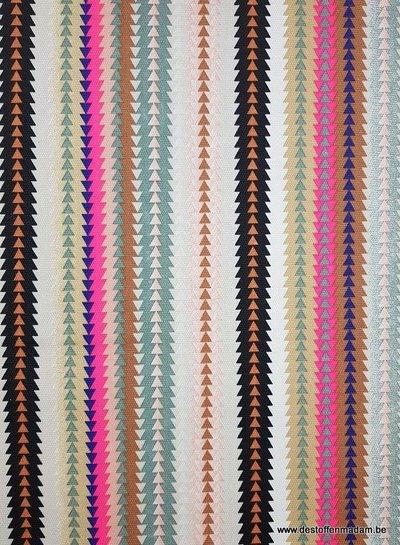 fluo triangles - decoratie stof