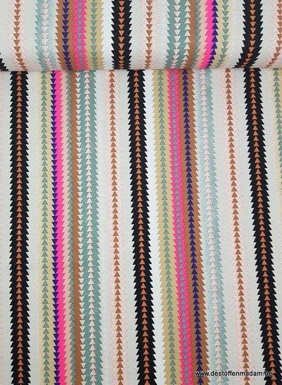fluo triangles - decoration cotton fabric