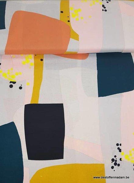 pastel geometric shapes - katoen