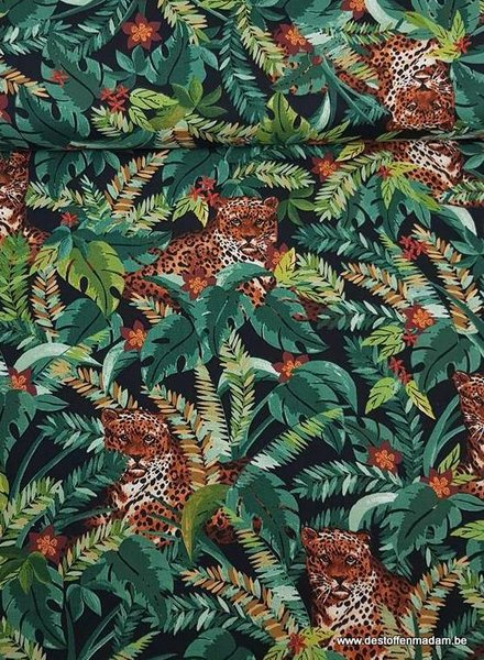 Timeless Treasures Fabrics forest tiger - cotton