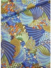 Timeless Treasures Fabrics peacock multi - cotton