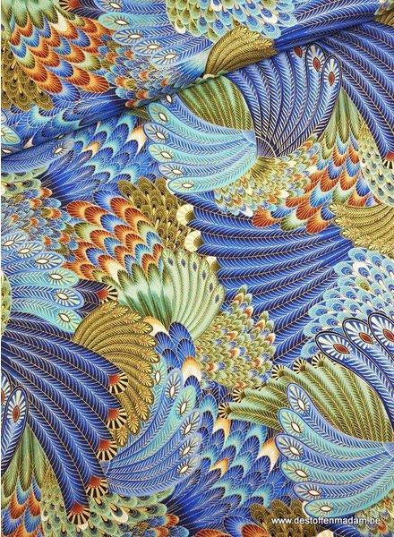 Timeless Treasures Fabrics multipauw - katoen
