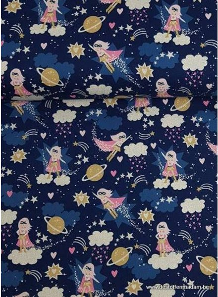 Timeless Treasures Fabrics superwoman - cotton