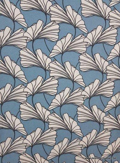 dandelions blauw - rekbare crêpe