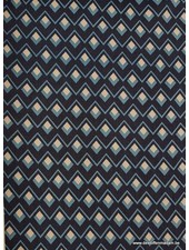 diamonds navyblue - viscose twill