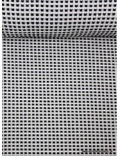 zwart vierkantjes - zachte structuurtricot
