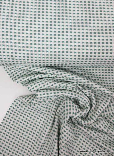 mint squares - textured jersey