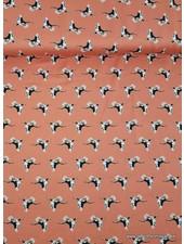 cranes coral - satin