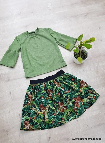 groen spikkel - french terry