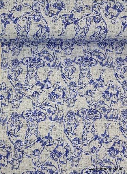 blauw monkeys - french terry