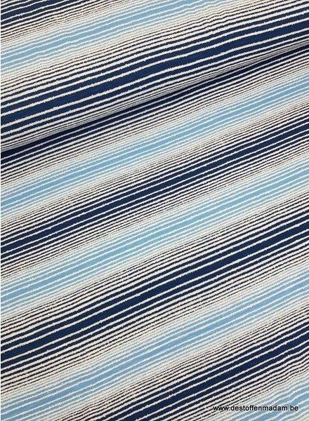 blauw ecuador streepjes - viscose tricot