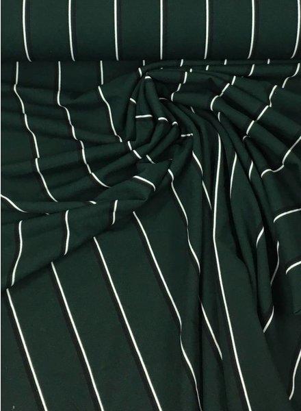 green and navyblue stripes – viscose crepe