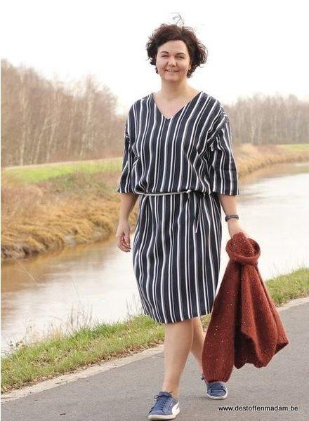 Violet jurk met streepjes