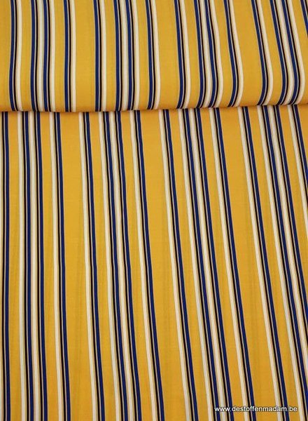 fascination vertical stripes yellow - Italian  viscose