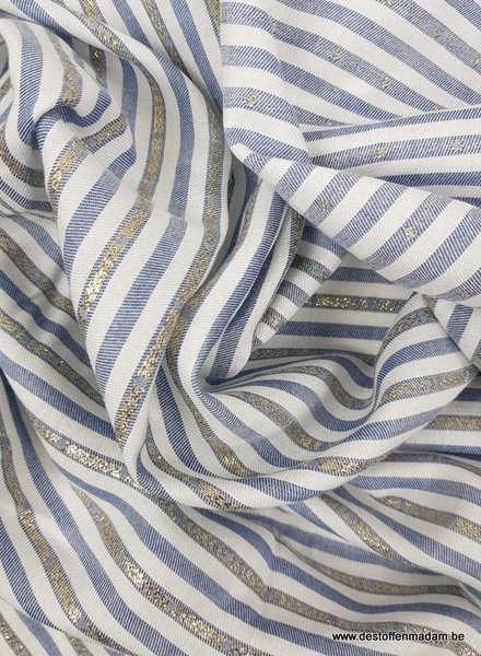 double face silver accents - cotton viscose