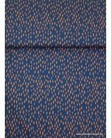 blauw spots - superzachte dunne katoen