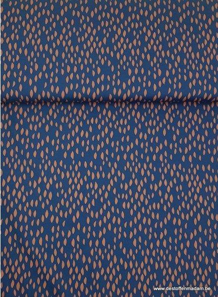 blue spots - soft cotton