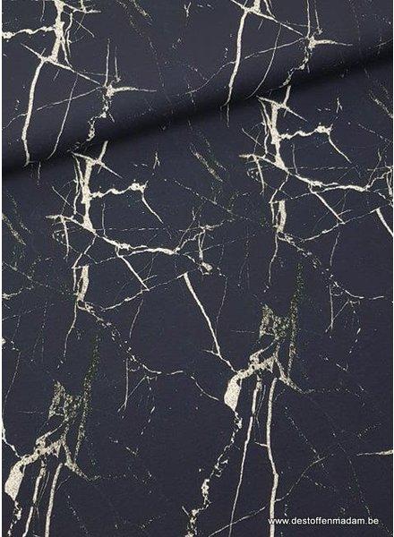 navy marble - viscose