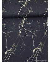 navy marble - tricot