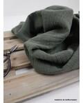 M linen cotton mix double gauze / tetra - khaki