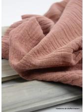 linnen katoen mix double gauze / tetra - dusty pink