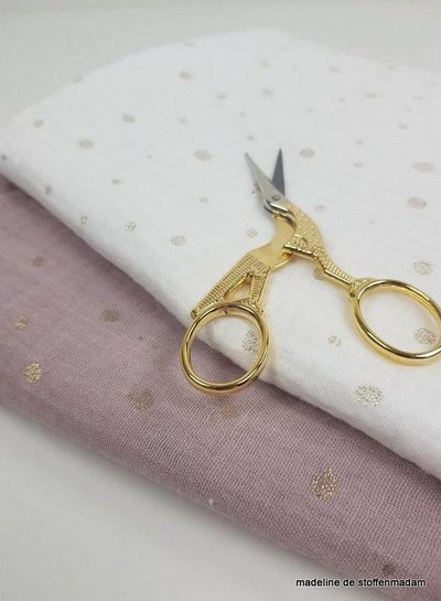 dusty pink and golden dots - tetra