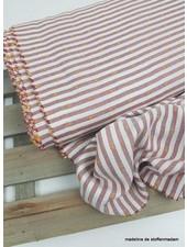 marsala stripes & oker dots - cotton viscose