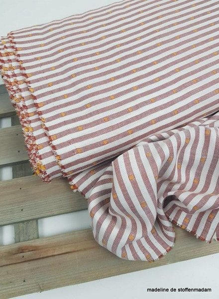 marsala stripes & oker dots - katoen viscose