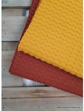 ochre new - waffle cotton