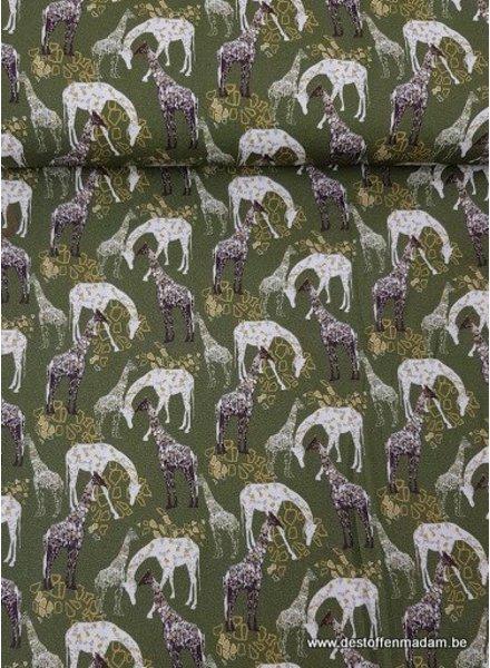 khaki giraffen - zachte katoen