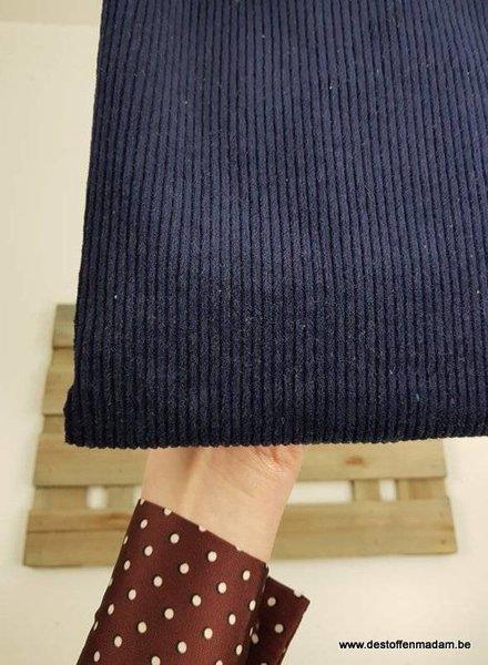 marineblauw corduroy/ribfluweel