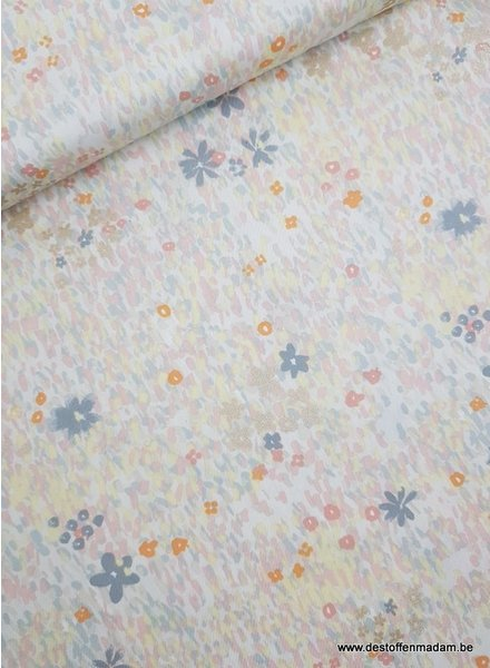 pastel flower - cotton