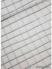 mint grey squares - cotton