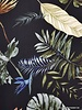 black summer leaves - viscose crêpe