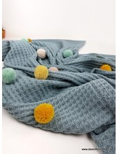 superzacht gebreid ledikant deken