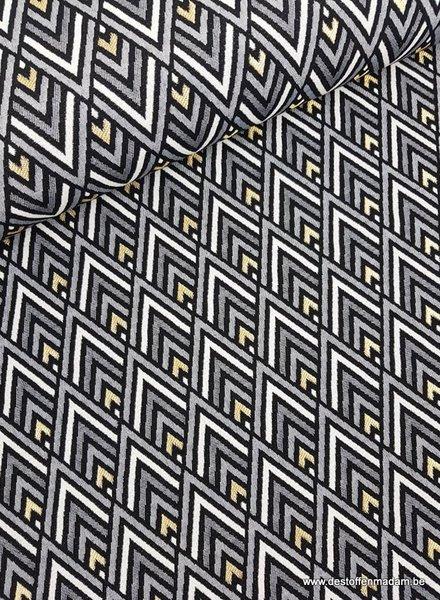 gold geometric - gobelin/ deco fabric