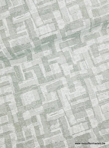 scrables mint canvas - 280cm breedte