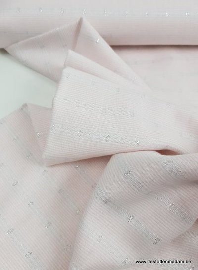 double face soft pink and subtil lurex - viscose